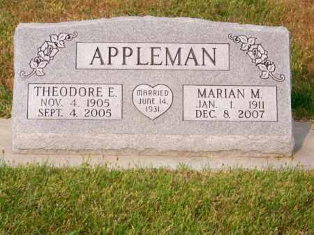 APPLEMAN, THEODORE E. - Brown County, Nebraska | THEODORE E. APPLEMAN - Nebraska Gravestone Photos