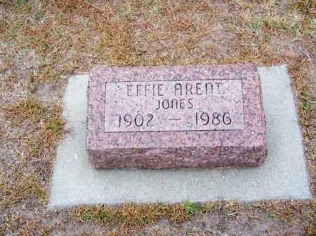 JONES ARENT, EFFIE - Brown County, Nebraska | EFFIE JONES ARENT - Nebraska Gravestone Photos