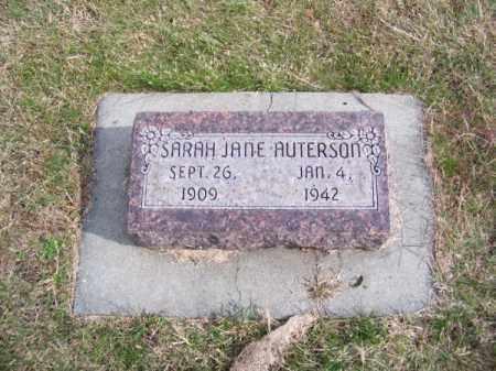 AUTERSON, SARAH JANE - Brown County, Nebraska | SARAH JANE AUTERSON - Nebraska Gravestone Photos