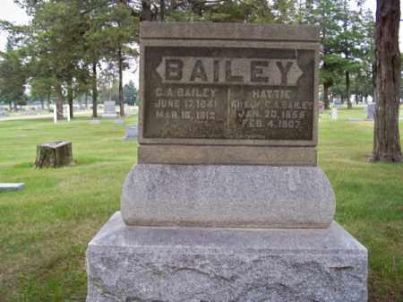BAILEY, C. A. - Brown County, Nebraska   C. A. BAILEY - Nebraska Gravestone Photos