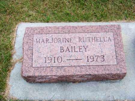 BAILEY, MARJORINE RUTHELLA - Brown County, Nebraska   MARJORINE RUTHELLA BAILEY - Nebraska Gravestone Photos