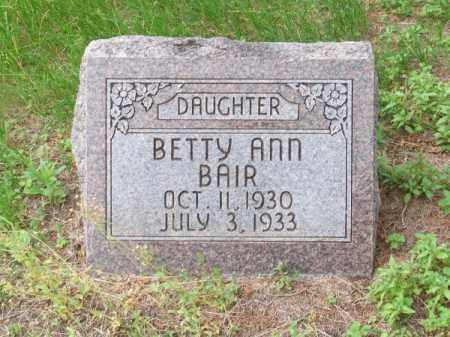 BAIR, BETTY ANN - Brown County, Nebraska | BETTY ANN BAIR - Nebraska Gravestone Photos