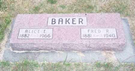 BAKER, ALICE E. - Brown County, Nebraska   ALICE E. BAKER - Nebraska Gravestone Photos