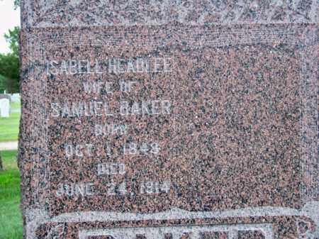 BAKER, ISABELL - Brown County, Nebraska   ISABELL BAKER - Nebraska Gravestone Photos