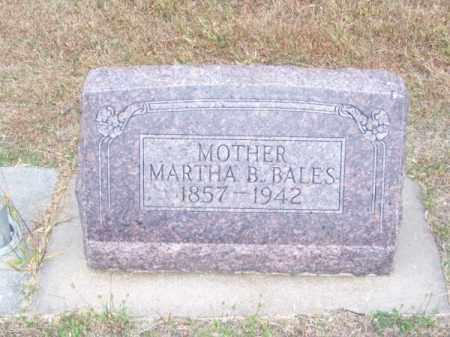 BALES, MARTHA B. - Brown County, Nebraska | MARTHA B. BALES - Nebraska Gravestone Photos