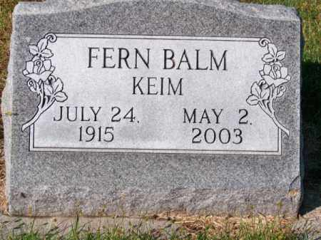 BALM, FERN - Brown County, Nebraska | FERN BALM - Nebraska Gravestone Photos