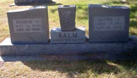 BALM, FRANCIS A. - Brown County, Nebraska | FRANCIS A. BALM - Nebraska Gravestone Photos