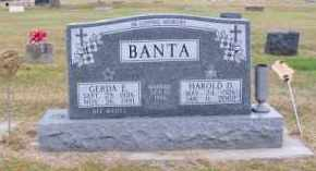 BANTA, GERDA E. - Brown County, Nebraska   GERDA E. BANTA - Nebraska Gravestone Photos