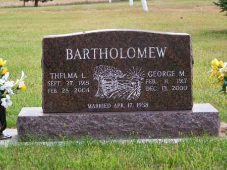 BARTHOLOMEW, GEORGE M. - Brown County, Nebraska | GEORGE M. BARTHOLOMEW - Nebraska Gravestone Photos