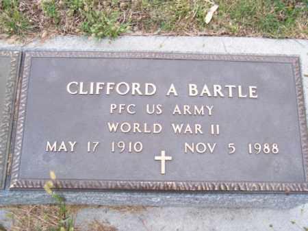 BARTLE, CLIFFORD A. - Brown County, Nebraska | CLIFFORD A. BARTLE - Nebraska Gravestone Photos