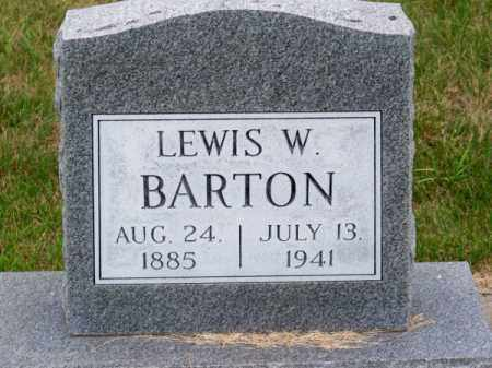 BARTON, LEWIS W. - Brown County, Nebraska   LEWIS W. BARTON - Nebraska Gravestone Photos
