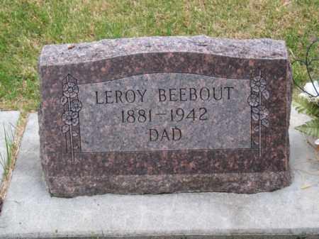 BEEBOUT, LEROY - Brown County, Nebraska   LEROY BEEBOUT - Nebraska Gravestone Photos