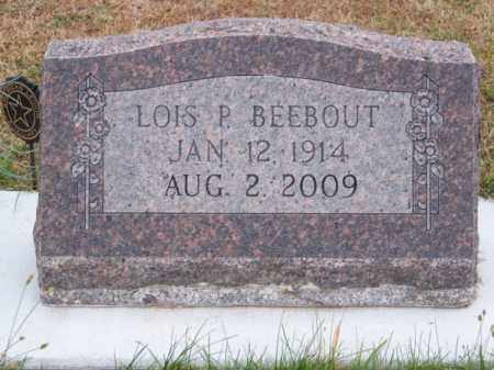 BEEBOUT, LOIS P. - Brown County, Nebraska | LOIS P. BEEBOUT - Nebraska Gravestone Photos