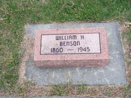 BENSON, WILLIAM H. - Brown County, Nebraska | WILLIAM H. BENSON - Nebraska Gravestone Photos
