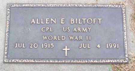 BILTOFT, ALLEN E. - Brown County, Nebraska | ALLEN E. BILTOFT - Nebraska Gravestone Photos