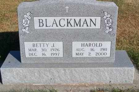 BLACKMAN, HAROLD - Brown County, Nebraska | HAROLD BLACKMAN - Nebraska Gravestone Photos