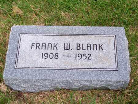 BLANK, FRANK W. - Brown County, Nebraska | FRANK W. BLANK - Nebraska Gravestone Photos