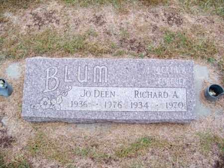 BLUM, RICHARD A. - Brown County, Nebraska | RICHARD A. BLUM - Nebraska Gravestone Photos