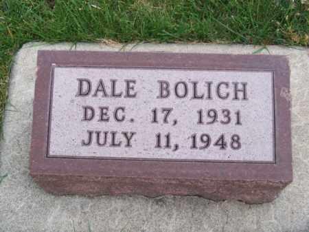 BOLICH, DALE - Brown County, Nebraska | DALE BOLICH - Nebraska Gravestone Photos