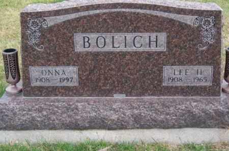 BOLICH, ONNA - Brown County, Nebraska | ONNA BOLICH - Nebraska Gravestone Photos