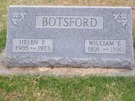 BOTSFORD, WILLIAM E. - Brown County, Nebraska   WILLIAM E. BOTSFORD - Nebraska Gravestone Photos