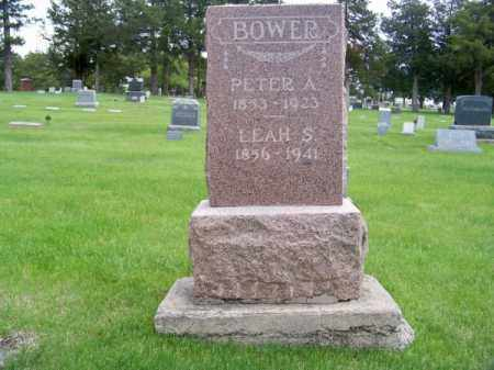 BOWER, PETER A. - Brown County, Nebraska   PETER A. BOWER - Nebraska Gravestone Photos