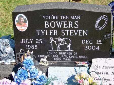 BOWERS, TYLER STEVEN - Brown County, Nebraska | TYLER STEVEN BOWERS - Nebraska Gravestone Photos
