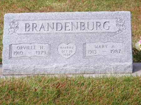 BRANDENBURG, ORVILLE H. - Brown County, Nebraska   ORVILLE H. BRANDENBURG - Nebraska Gravestone Photos