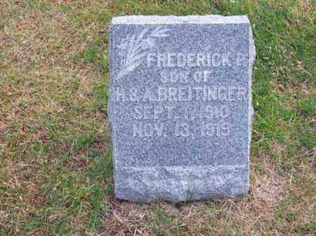BREITINGER, FREDERICK R. - Brown County, Nebraska | FREDERICK R. BREITINGER - Nebraska Gravestone Photos