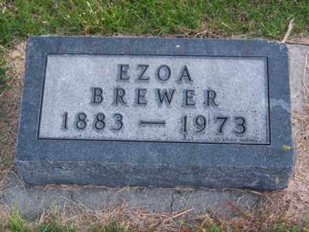 BREWER, EZOA - Brown County, Nebraska   EZOA BREWER - Nebraska Gravestone Photos