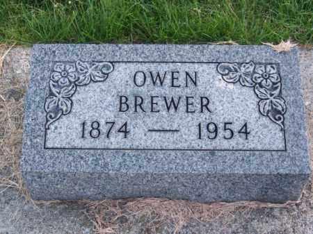 BREWER, OWEN - Brown County, Nebraska | OWEN BREWER - Nebraska Gravestone Photos