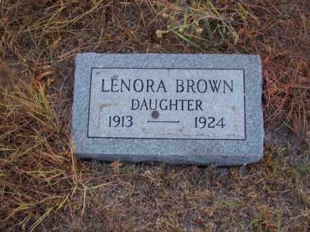 BROWN, LENORA - Brown County, Nebraska | LENORA BROWN - Nebraska Gravestone Photos