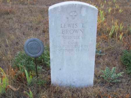 BROWN, LEWIS L. - Brown County, Nebraska   LEWIS L. BROWN - Nebraska Gravestone Photos