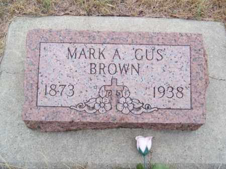 "BROWN, MARK A. ""GUS"" - Brown County, Nebraska | MARK A. ""GUS"" BROWN - Nebraska Gravestone Photos"