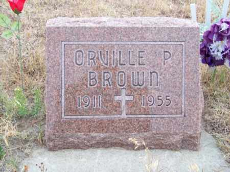 BROWN, ORVILLE P. - Brown County, Nebraska | ORVILLE P. BROWN - Nebraska Gravestone Photos