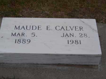 CALVER, MAUDE E. - Brown County, Nebraska   MAUDE E. CALVER - Nebraska Gravestone Photos