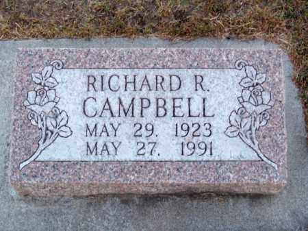 CAMPBELL, RICHARD R. - Brown County, Nebraska   RICHARD R. CAMPBELL - Nebraska Gravestone Photos