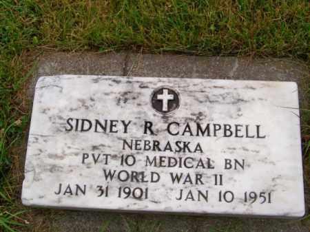 CAMPBELL, SIDNEY R. - Brown County, Nebraska | SIDNEY R. CAMPBELL - Nebraska Gravestone Photos