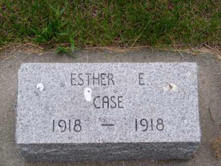 CASE, ESTHER E. - Brown County, Nebraska   ESTHER E. CASE - Nebraska Gravestone Photos