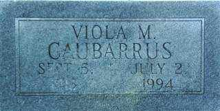 WARNKE CAUBARRUS, VIOLA - Brown County, Nebraska | VIOLA WARNKE CAUBARRUS - Nebraska Gravestone Photos