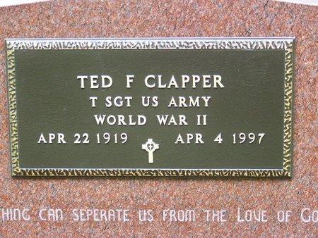 CLAPPER, TED F. - Brown County, Nebraska | TED F. CLAPPER - Nebraska Gravestone Photos