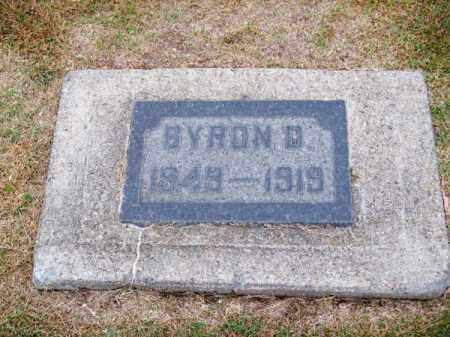 CLARK, BYRON D. - Brown County, Nebraska | BYRON D. CLARK - Nebraska Gravestone Photos