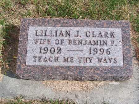 CLARK, LILLIAN J. - Brown County, Nebraska   LILLIAN J. CLARK - Nebraska Gravestone Photos