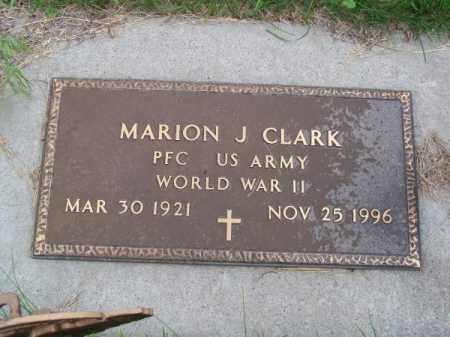 CLARK, MARION J. - Brown County, Nebraska | MARION J. CLARK - Nebraska Gravestone Photos