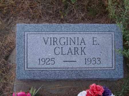 CLARK, VIRGINIA E. - Brown County, Nebraska   VIRGINIA E. CLARK - Nebraska Gravestone Photos