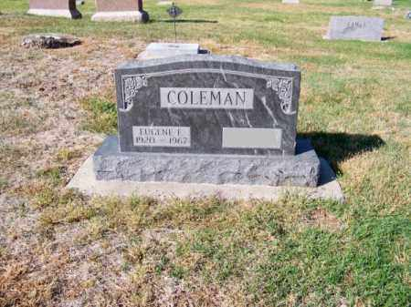 COLEMAN, EUGENE F. - Brown County, Nebraska | EUGENE F. COLEMAN - Nebraska Gravestone Photos