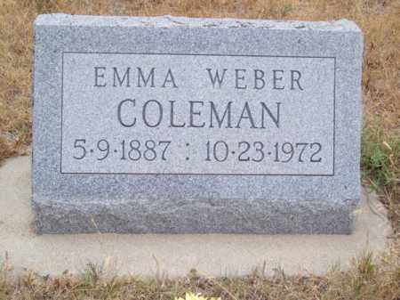 COLEMAN, EMMA - Brown County, Nebraska | EMMA COLEMAN - Nebraska Gravestone Photos