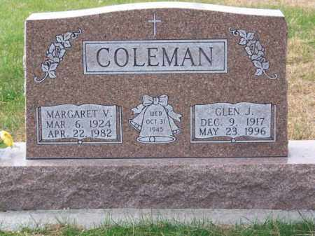 COLEMAN, MARGARET V. - Brown County, Nebraska   MARGARET V. COLEMAN - Nebraska Gravestone Photos