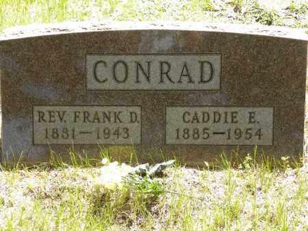 CONRAD, REV. FRANK D. - Brown County, Nebraska   REV. FRANK D. CONRAD - Nebraska Gravestone Photos