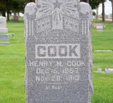 COOK, HENRY M. - Brown County, Nebraska | HENRY M. COOK - Nebraska Gravestone Photos